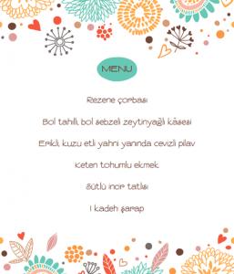1. Yiyelim Güzelleşelim Menüsü